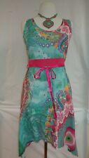 Desigual Women's Dress NWT Green Pink Blue Medium