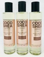 Bath & Body Works COCO SHEA COCONUT Moisturizing Body Oil 6.3 fl.oz - Lot of 3