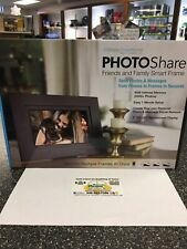 """PhotoShare Friends & Family SMART FRAME 8"""" with HD 1080P LED Touchscreen - NICE!"""