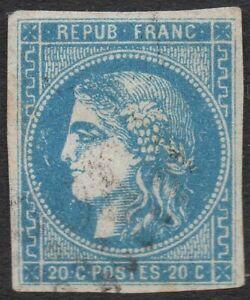 Timbre classique France Cérès Bordeaux n°46 oblitéré