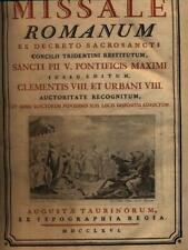 MISSALE ROMANUM PRIMA EDIZIONE AA.VV. AUGUSTAE TAURINORUM 1766