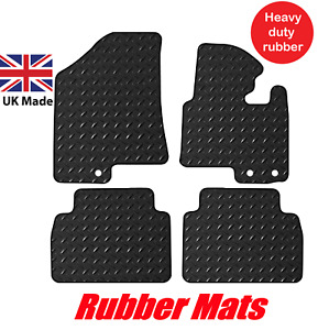Kia Sportage 2010 - 2015 Tailored Black Rubber Heavy Duty 3mm Car Mat Set