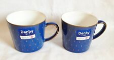 RARE Denby Imperial Blue Cascade Mugs x 2 - NEW UNUSED - Multiple Available