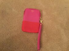 Fossil Key Leather Cell phone Wristlet pink