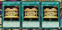 3x Gold-Sarkophag LDK2-DEY22 COMMON DEUTSCH 2.AUFLAGE PLAYSET NM Yu-Gi-Oh!
