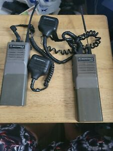 Motorola HT600 Portable Radios Lot of 2 with 2 Batteries and mics UNTESTED AS IS