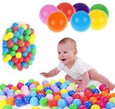 100 x MULTI COLOURED PLAY BALLS PLASTIC KIDS CHILDRENS SOFT PITS TENTS POOL 9353