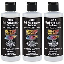 Lot Of 3 Createx Colors 4012 High Performance Reducer 8oz For Airbrushing Paint