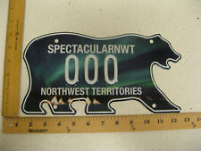 Northwest Territories Polar Bear License Plate SAMPLE AURORA BOREALIS 000 MINT