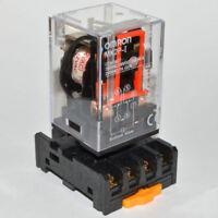 OMRON MK2P-I 10A Relay With 8PIN PF083A Socket Base DC12V DC24V AC110V AC220V