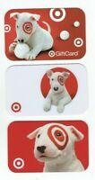 Target Gift Card Bullseye Dog - LOT of 3 - Older / 2006, 2007, 2008 - No Value