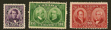 CANADA : 1927 Confederation Historical issue SG 271-3 mint