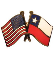 Chile Friendship with US Flag Lapel Badge Pin