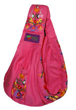 New Baba Sling Baby Carrier Embroidery Pink Mexican Embroidered