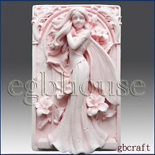 egbhouse, 2D Silicone Soap Mold, plaster mold, polymer clay mold  - Fairy Aine