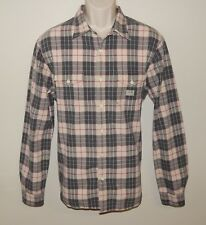Denim & Supply Ralph Lauren Mens Size Large Weathered Plaid Shirt