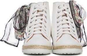 LOVE MOSCHINO Canvas Sneaker weiß Schleife Gr. 40