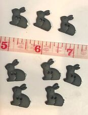 25 Buttons Black Bunny Rabbit Novelty Sewing Buttons