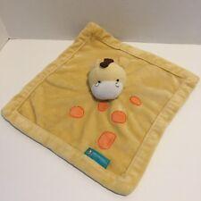 Giraffe Lovey Baby Security Blanket Yellow Tiddliwinks