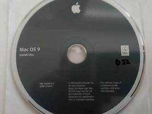 Mac OS 9 Operating System Original Full Install CD