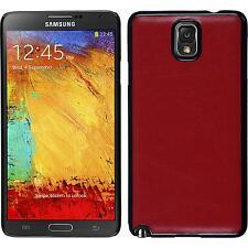 Custodia Rigida Samsung Galaxy Note 3 ottica pelle rosso