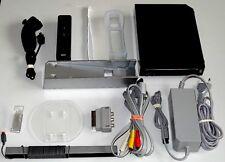 Nintendo Wii Schwarz Konsolenset  mit Remote Fernbedienung und Nunchuck