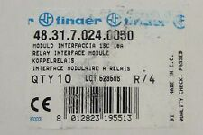 FINDER 48.31.7.024.0050 Relay Interface Module 10 Amp 24 VDC 48 31 7 024 0050