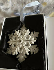 Pandora Christmas Tree Decoration Snowflake Star White Porcelain 2015 RETIRED