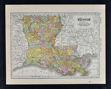 1911 McNally Map - Louisiana - New Orleans Baton Rouge Alexandria Lafayette - La
