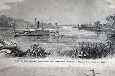 Appomattox Port Walthall 1864 Jones Neck James Baldy Smith Foster Matted Print