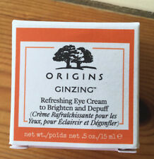 Origins Ginzing Refreshing Eye Cream to Brighten/Depuff 15ml Dark Circle BNIB
