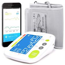 Bluetooth Blood Pressure Monitor Cuff Smart Upper Arm Cuff Large Digital Display