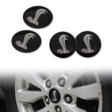 56.5mm Cobra Car Steering Wheel Center Hub Cap Stickers for New  Shelby