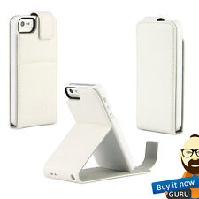 TECH21 T21-3538 IMPACT FLIP LEATHER HARD SHELL CASE COVER FOR iPhone 5C - WHITE