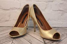 River Island Faux Leather Open Toe Slim Fare Stiletto Heels Women Shoes RRP £35
