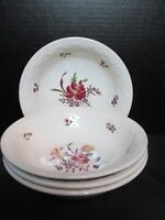 """Wedgwood Cotswold Corinthian England 4 Coupe Cereal Bowls 6 3/4"""" Wide 1 3/4"""" D"""