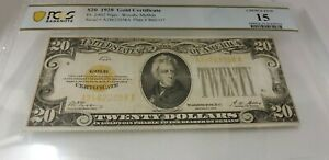 1928 $20 Gold Certificate FR-2402 - PCGS Choice Fine 15