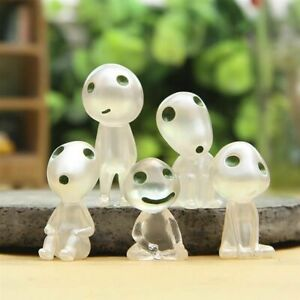 Luminous Tree Elves Figurine 5Pcs Cartoon Glow In The Dark Novelty Toys Gifts