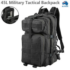 45L Military Tactical Army Backpack Rucksack Camping Hiking Trekking Bag AU