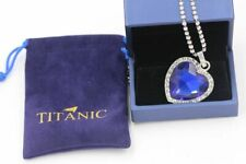 Blue Crystal Pendant with Silver Necklace Titanic Heart of the Ocean
