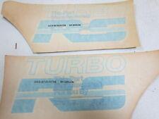 NOS OEM, 1979 - 1984 new factory Ford Mercury Capri Turbo RS fender BLUE decal