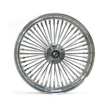 Ultima King Spoke 16x3.5 Chrome Front Dual Disc Wheel for Harley 86-99 WideGlide