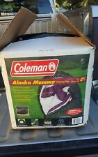 "Coleman Alaskan Mummy Sleeping Bag 0 degrees 32"" x 82"" never used old stock"