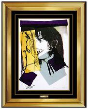 Andy Warhol Hand Signed Mick Jagger Color Lithograph Portrait Modern Pop Artwork