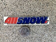 New Snowboard 411 Snow Sticker Collector'S Edition