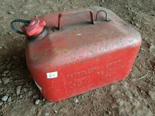 Original Vintage Red Metal Petrol can