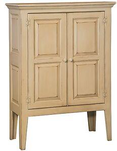 Amish Primitive Shaker Storage Cabinet Farmhouse Cottage Solid Wood Distressed