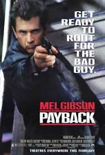 PAYBACK Movie POSTER 27x40 Mel Gibson Gregg Henry Maria Bello David Paymer