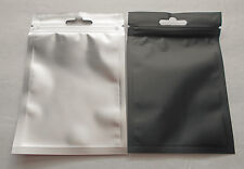 100 Clear/Black 3.25x5 Foil Pouch Hang Hole Mylar Zip Bag Food Safe Smell Proof