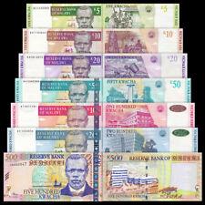 Malawi 5+10+20+50+100+200+500 Kwacha BrandNew Banknotes set 7PCS